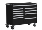 Mobile Tool Drawer Cabinet Rousseau R5GJG-3801 in BK