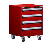 Mobile Drawer Cabinet Rousseau Heavy Duty R5BCD-2801 Flame Red