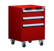 Mobile Drawer Cabinet Rousseau Heavy Duty R5BCD-2805 Flame Red