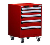 Mobile Drawer Cabinet Rousseau Heavy Duty R5BCD-3053 Flame Red