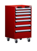 Mobile Drawer Cabinet Rousseau Heavy Duty R5BCD-3851 Flame Red