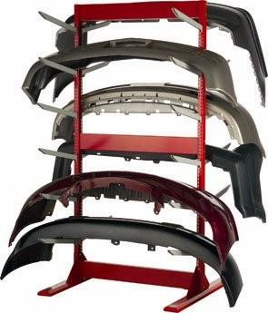 Double Sided Bumper Cover Rack with 12 sets of Arms