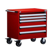 Mobile Drawer Cabinet Rousseau Heavy Duty R5BDG-3015 Flame Red