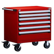 Mobile Drawer Cabinet Rousseau Heavy Duty R5BDD-3001 Flame Red