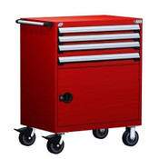 Mobile Drawer Cabinet Rousseau Heavy Duty R5BDD-3805 Flame Red