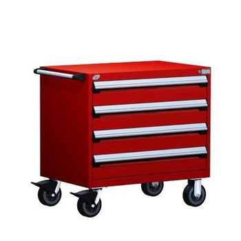 Mobile Drawer Cabinet Rousseau Heavy Duty R5BEC-2803 Flame Red