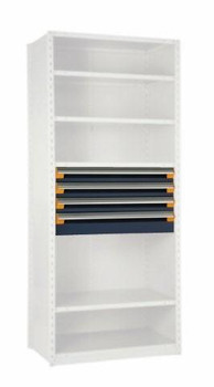 """4 Drawer Insert for Existing Shelving 42"""" wide x 18"""" deep"""