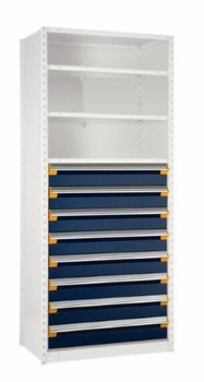 """8 Drawer Insert for Existing Shelving 42"""" w x 18"""" deep"""