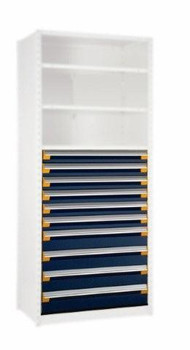 """10 Drawer Insert for Existing Shelving 42"""" w x 18"""" deep"""