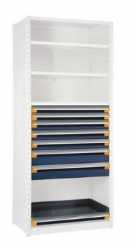 "7 Drawer & Roll-Out Shelf Insert for Existing Shelving 42"" wide x 18"" deep"