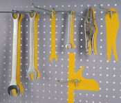 Efficient tool display using Hooks on a Perforated Panel