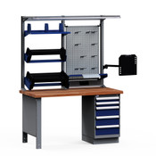 NCW0598 in Light Gray Workbench, Avalanche Blue Drawers
