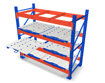 Roll-Out Shelves for Pallet Racks Single Open