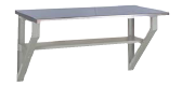 Wall Mounted Workbench with Painted Steel Top