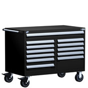 Mobile Tool Drawer Cabinet Rousseau R5GHE-3004 BK