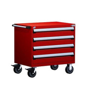 Mobile Drawer Cabinet Rousseau Heavy Duty R5BEE-2804 Flame Red