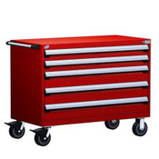 Mobile Drawer Cabinet Rousseau Heavy Duty R5BHE-3010 Flame Red