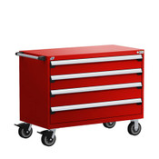 Mobile Drawer Cabinet Rousseau Heavy Duty R5BHE-3019 Flame Red