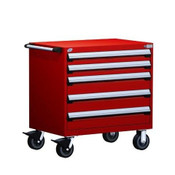 Mobile Drawer Cabinet Rousseau Heavy Duty R5BEE-3005 Flame Red