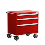 Mobile Drawer Cabinet Rousseau Heavy Duty R5BEE-3021 Flame Red