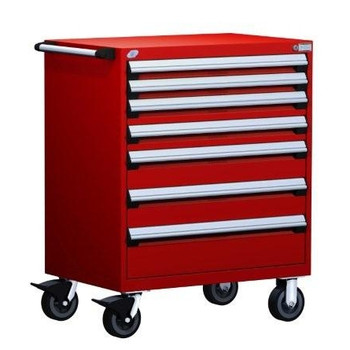 Mobile Drawer Cabinet Rousseau Heavy Duty R5BEE-3801 Flame Red