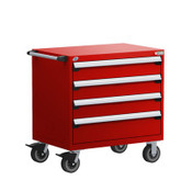 Mobile Drawer Cabinet Rousseau Heavy Duty R5BEE-3019 Flame Red