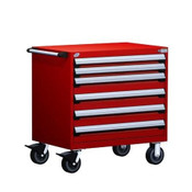 Mobile Drawer Cabinet Rousseau Heavy Duty R5BEE-3007 Flame Red