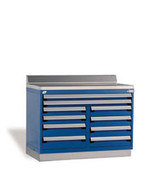 Fixed Tool Drawer Cabinet Rousseau R5XHG-1034 in Avalanche Blue