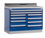 Fixed Tool Drawer Cabinet Rousseau R5XHG-1038 in Avalanche Blue