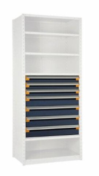 "7 Drawer Insert for Existing Shelving 36"" wide x 24"" deep"