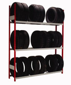 Single Deep Tire Rack with 3 Levels