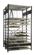 Moulding Rack with 10 Shelves and 72 Compartments
