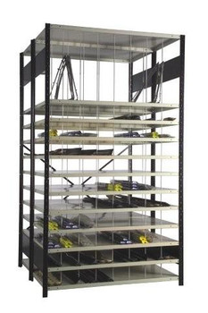 Moulding Rack with 12 Shelves and 66 Compartments