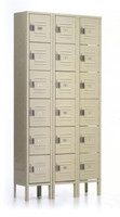 Republic Steel Quick Ship Box Lockers. Six High, Three Wide.