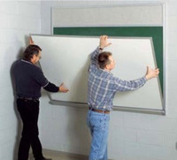 Marsh Retro-Fit Magnetic White Dry Erase Marker Board. Covers old boards. Price depends on length.