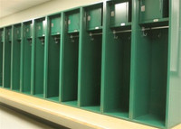 MVP Athletic Lockers with Locking Compartment Option.