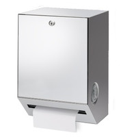 Mechanical hands free paper towel dispenser. Non-perforated roll