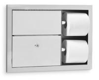 Toilet Tissue Dispenser / Sanitary Disposal. Stainless Steel