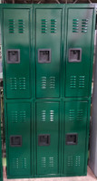 "12"" wide x 12"" deep x 72"" high New Overstock Double Tier 8 Lockers"