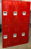 "15"" wide x 15"" deep x 72"" high New Heavy Duty Double Tier 6 Lockers"