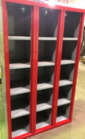 "15"" wide x 15"" deep x 60"" high New 5 Tier Red Cubbies"