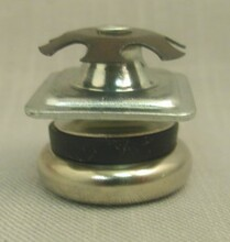 """Swivel glide for chairs with square legs. Leg O.D. 1"""", I.D. 7/8"""""""