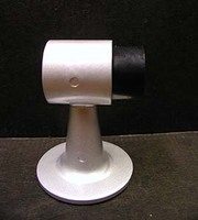 Door Stop, For Concrete or Tile Floors. Aluminum or Dull Chrome Finish (prices differ). #3203