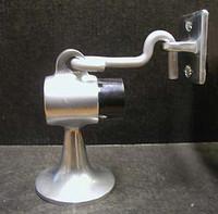 """Door Stop / Door Holder, For Wood Floors. Aluminum. 3-1/2"""" Base. 2-1/4"""" Diameter. #3209"""