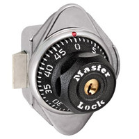 Master Lock 1652 Built-In Combination Locker Lock with new octagonal dial and larger numbers. Horizontal Spring Bolt for Right Hand Single Point Lockers.
