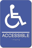 ADA Wheelchair Accessible Sign. ADA Compliant with Braille. #09001