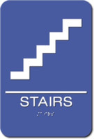 Stairs Sign. ADA Compliant with Braille. #09011