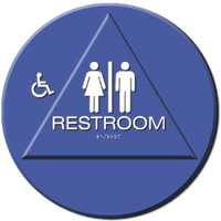 Wheelchair Accessible Men's / Women's Restroom Sign California Title 24 Compliant. #09032