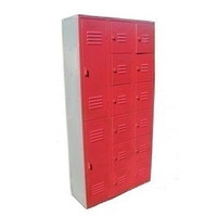 Used Lockers. 14-Person Locker Combination (2 tier and 6 tier). #1212726T2T