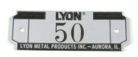 Lyon locker number plate